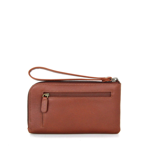 Breve Zip Down Leather Wallet