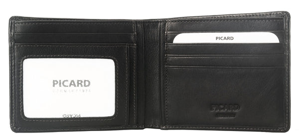Brooklyn Leather Wallet with Card Window and Zipped Compartment