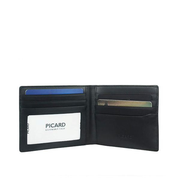 Checker Leather Wallet with Card Window