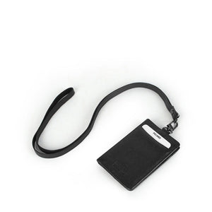 Digi Bifold Leather Pass Case and Neck Strap Set