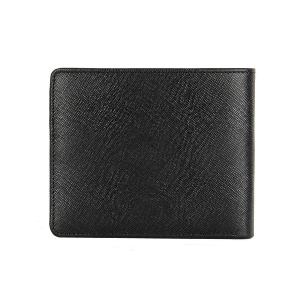 Saffiano Leather Wallet with Card Window