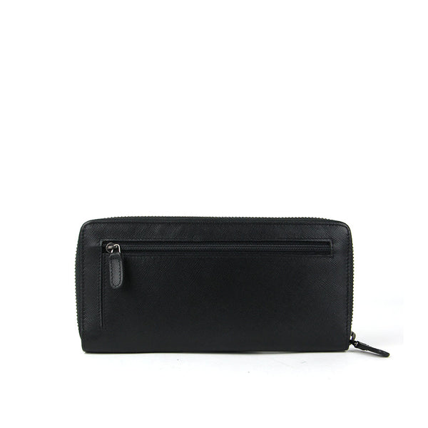 Saffiano Long Leather Wallet