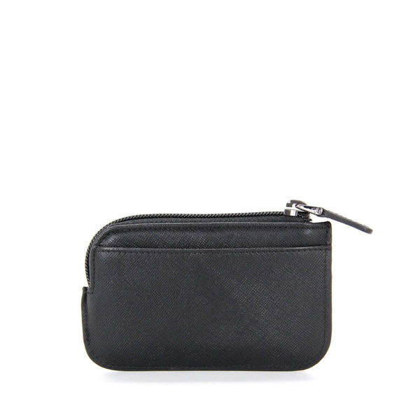 Saffiano Coin Pouch With Key Holder