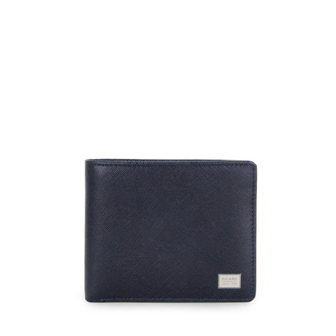 Picard Saffiano Billfold Wallet with Coin Pouch 004978