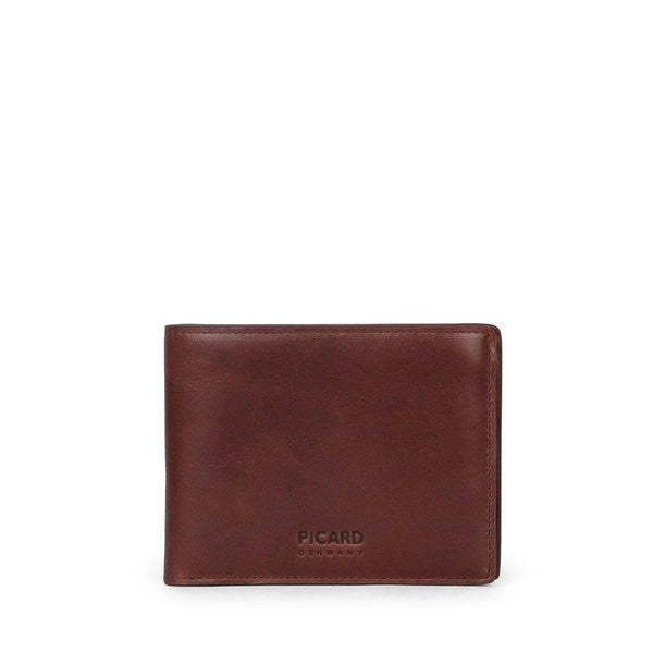 Teuer Slim Bifold Leather Wallet with Card Window