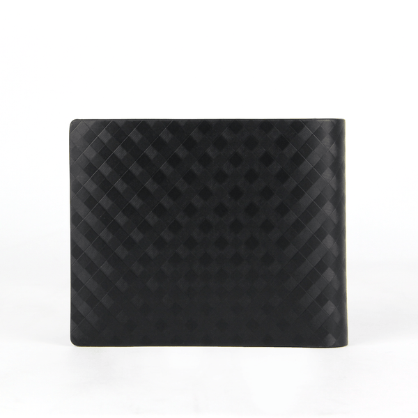 Checker Flap Leather Wallet