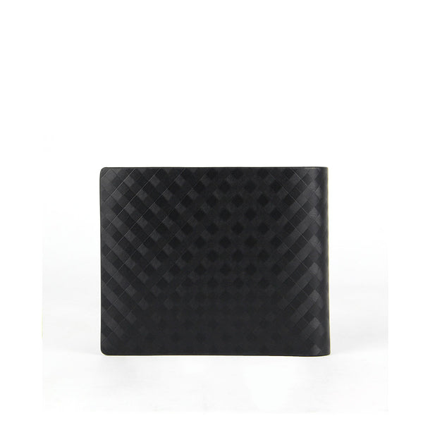 Checker Leather Wallet with Coin Pouch
