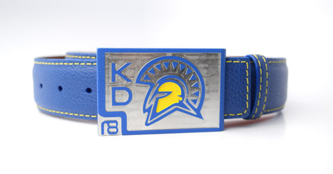 Custom San Jose State Golf Belt