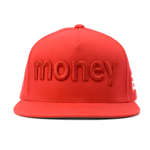 NXT18 Golf - MONEY - Flat Bill Cap - Red