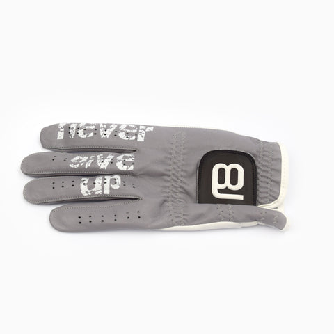 NXT18 Golf - Never Give Up Golf Glove - Gray