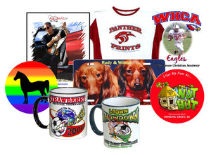 T-shirts, Banners, Koozies, Signs  Full Color Copies, Photo Printing and More We Print it!