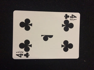 Bicycle 4 1/2 Clubs Card