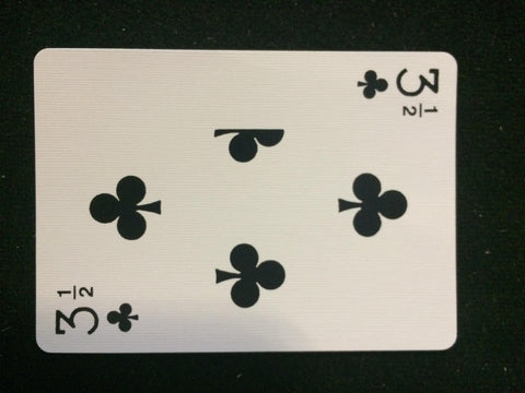 Bicycle 3 1/2 of Clubs Card