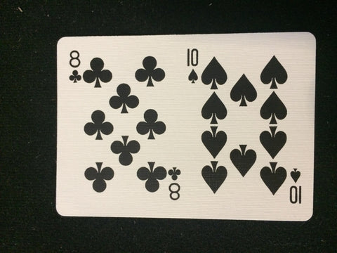 Bicycle 8 of Clubs/10 of Spades Card