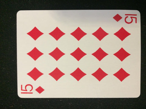 Bicycle 15 of Diamonds Card