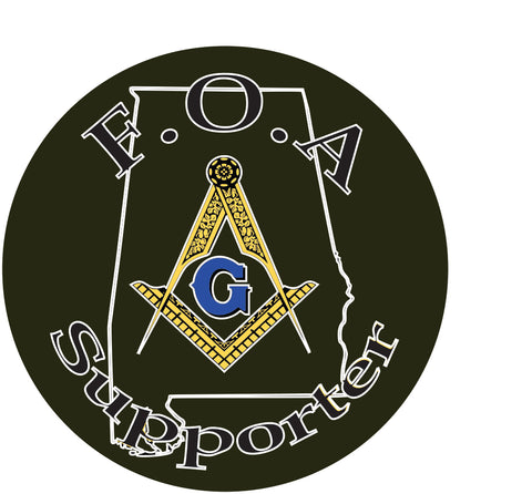 F.O.A Freemasons of Alabama Patch - Titan Magic & Brain Busters Escape Rooms