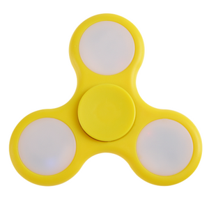 Fidget spinner led yellow - Titan Magic & Brain Busters Escape Rooms