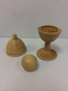Wooden Ball and Vase - Titan Magic & Brain Busters Escape Rooms