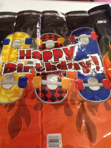 Happy birthday skateboard balloon - Titan Magic & Brain Busters Escape Rooms