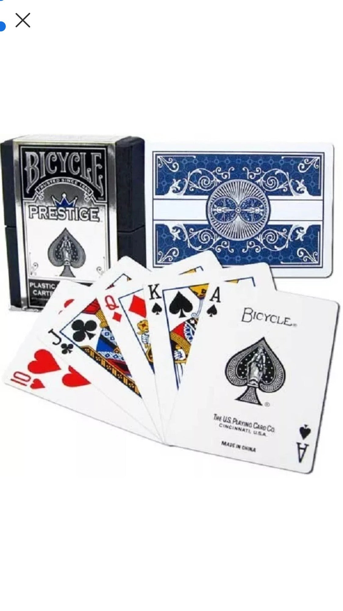 Red Bicycle Prestige Plastic Playing Cards
