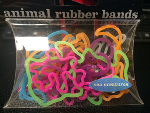 Animal Rubber Bands (Sea Creatures) 20 count