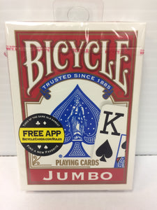 Bicycle Jumbo Deck (Red) - Titan Magic & Brain Busters Escape Rooms