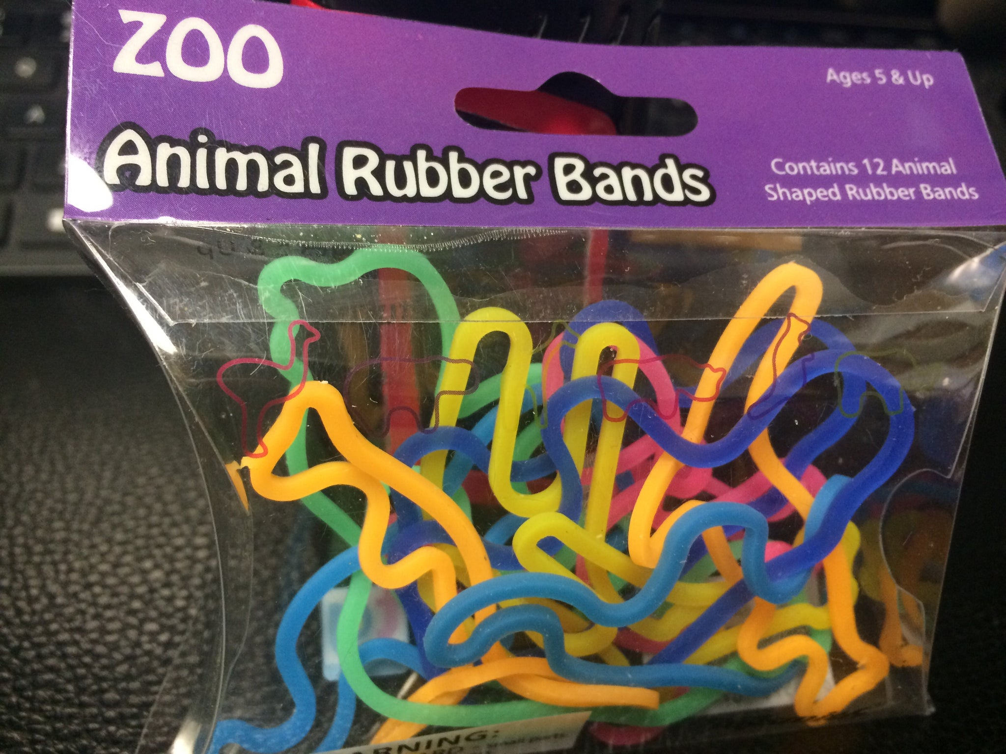 Animal Rubber Bands (Zoo) 12 count