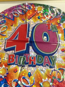 """40th birthday "" balloon - Titan Magic & Brain Busters Escape Rooms"