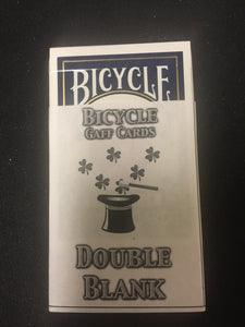 Double Blank Bicycle Cards gaff magic trick