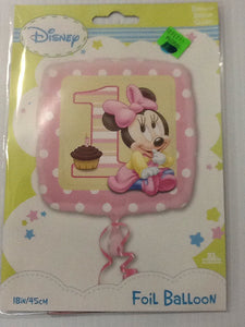 1st birthday Minnie Mouse girl balloon - Titan Magic & Brain Busters Escape Rooms