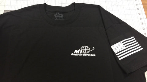 M1 Logo T-Shirts Solid White Logo - Titan Magic & Brain Busters Escape Rooms
