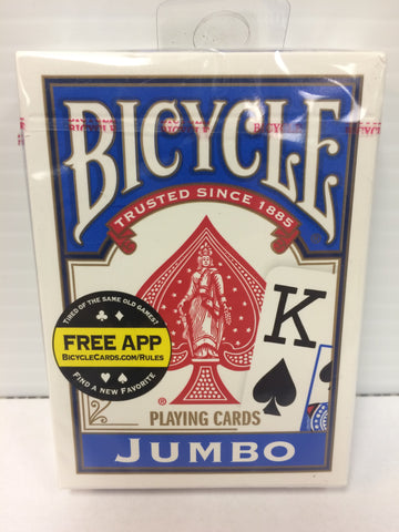 Bicycle Jumbo Deck (Blue) - Titan Magic & Brain Busters Escape Rooms