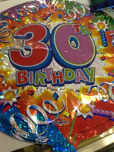 30th birthday balloon - Titan Magic & Brain Busters Escape Rooms