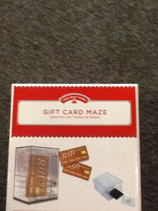 Gift card box maze - Titan Magic & Brain Busters Escape Rooms