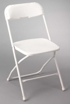 White Folding Chairs  (3 day Rental)