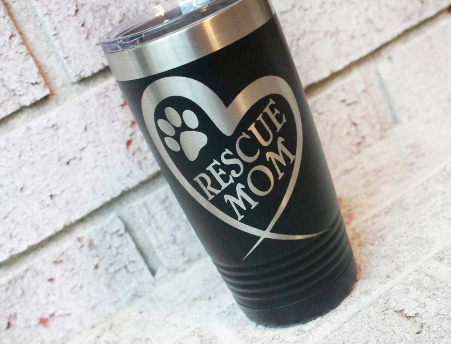 Custom Laser Etched Coated Tumbler - Titan Magic & Brain Busters Escape Rooms