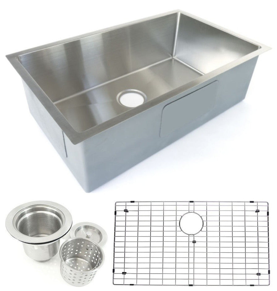 Starstar Undermount Stainless Steel Single Bowl Kitchen Sink With ...
