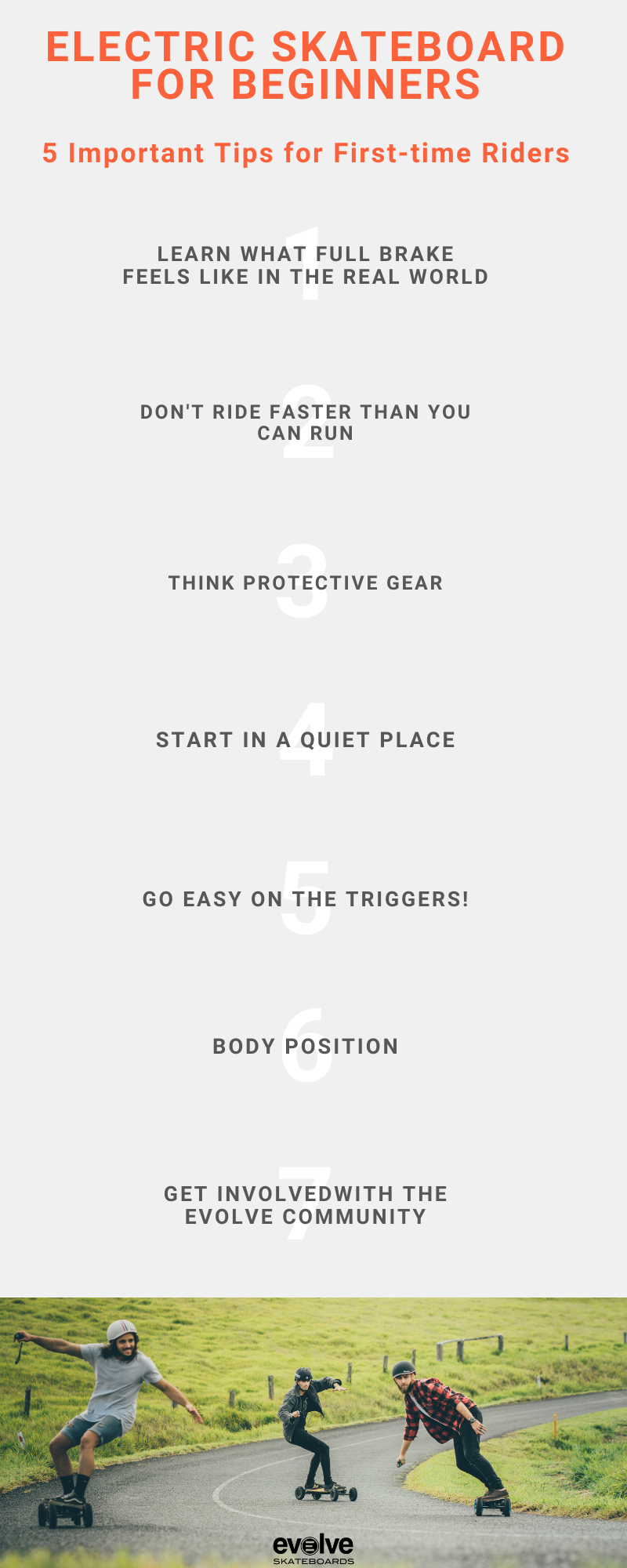 Electric Skateboard for Beginners infographic