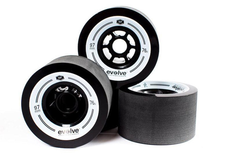 Black Evolve GT 97mm 76A Stone ground (set of 4)