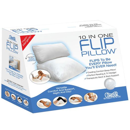 Contour 10 in 1 Flip Pillow Sleeping Reading Wedge Supportive Comfort