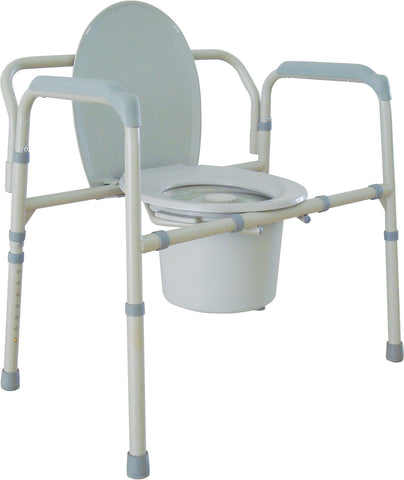 Bariatic Folding Commode - Footit Medical, CPAP, Stairlift, Orthotic, Prosthetic, & Mobility Supply