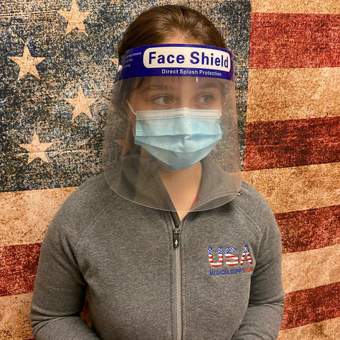 (10) Protective Professional Face Shields