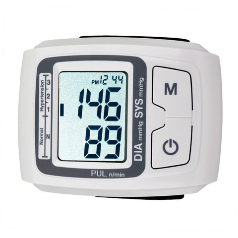 Wrist Blood Pressure Monitor with Batteries, & Warranty