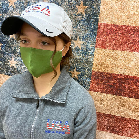 Washable Premium USA Medical Supply Brand Fashion Masks with Filter Pocket
