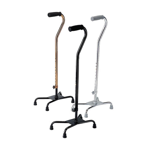Aluminum Quad Cane - Footit Medical, CPAP, Stairlift, Orthotic, Prosthetic, & Mobility Supply