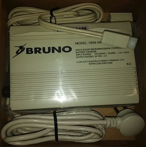 Bruno 1550 2000 2010 Elite CRE 2110 2750 Stairlift Charger 2 AH Amp BCR-24018 - Footit Medical, CPAP, Stairlift, Orthotic, Prosthetic, & Mobility Supply