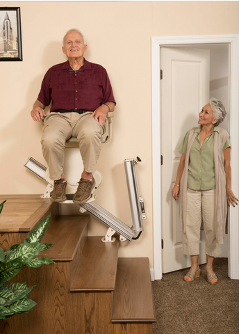 Harmar Pinnacle SL600 Stairlift Straight Rail Power Folding Rail 350lbs Capacity with 10 Year Warranty - Footit Medical, CPAP, Stairlift, Orthotic, Prosthetic, & Mobility Supply