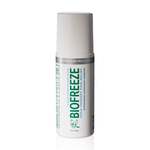 Biofreeze Menthol 3FL Oz Colorless Roll On Pain Relieving Gel - Footit Medical, CPAP, Stairlift, Orthotic, Prosthetic, & Mobility Supply