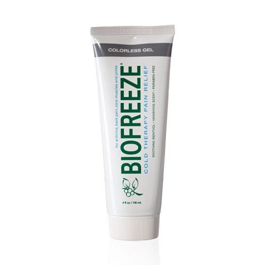 Biofreeze Menthol 4FL Oz Colorless Tube Pain Relieving Gel