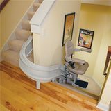 Bruno CRE-2110 Indoor Elite Curved Stairlift Custom Manufactured USA - Footit Medical, CPAP, Stairlift, Orthotic, Prosthetic, & Mobility Supply